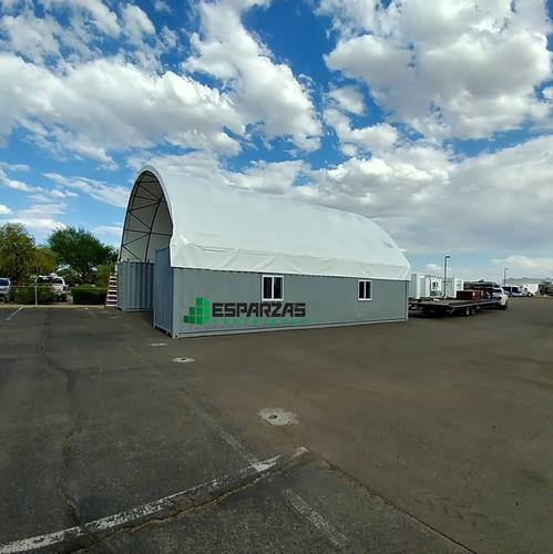 Storage container canopies