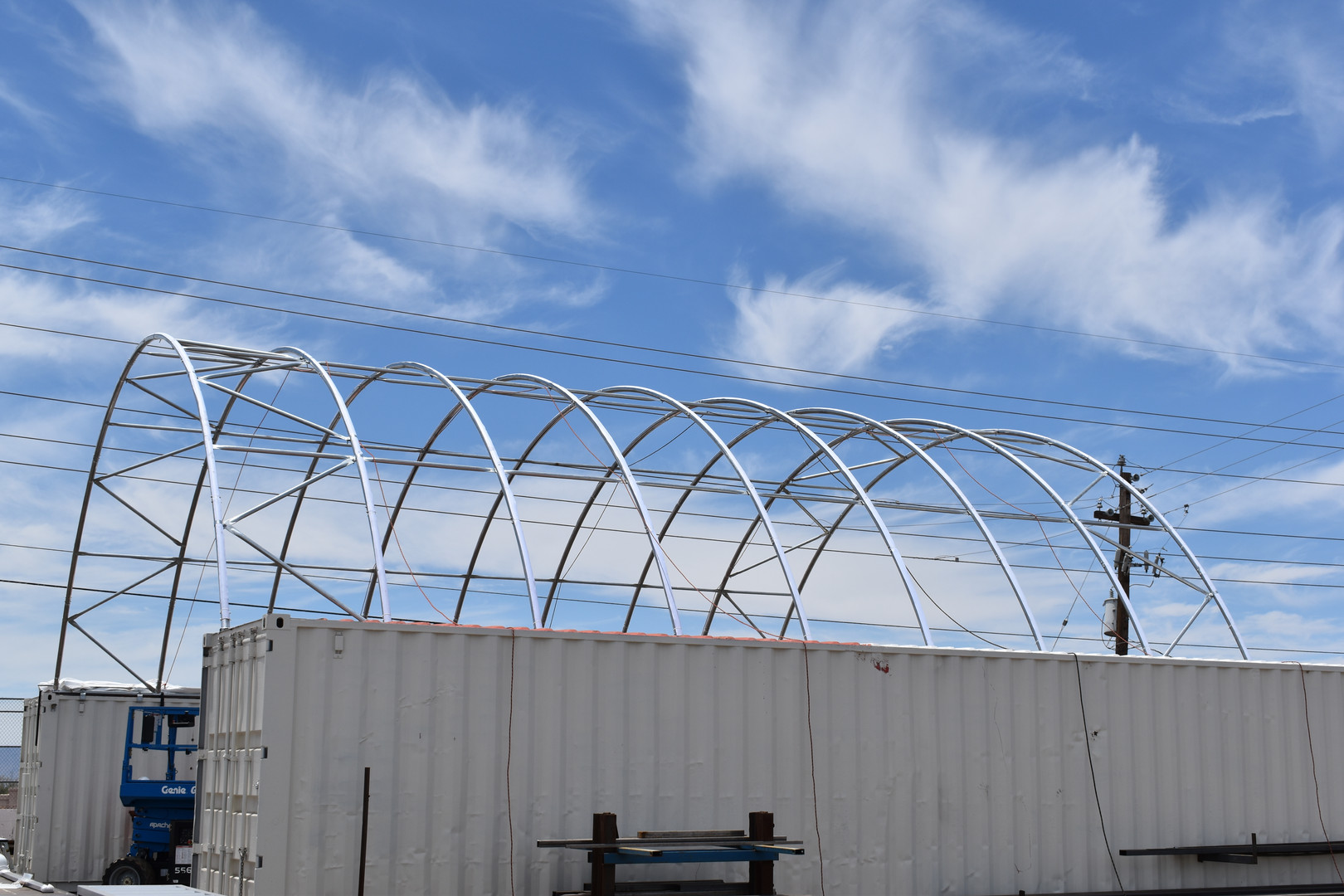 Storage container canopy install