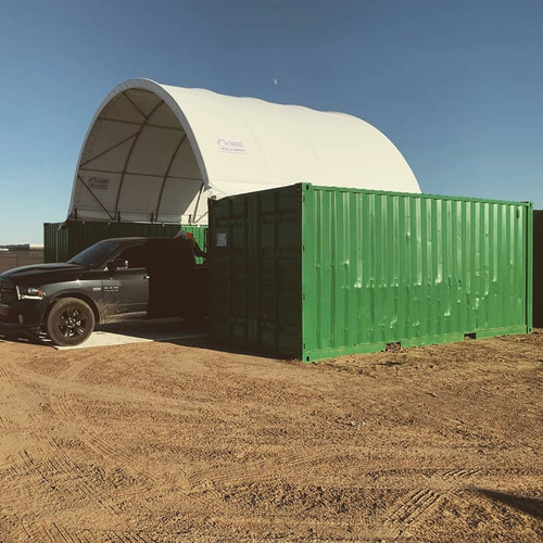 20' Shipping container canopy
