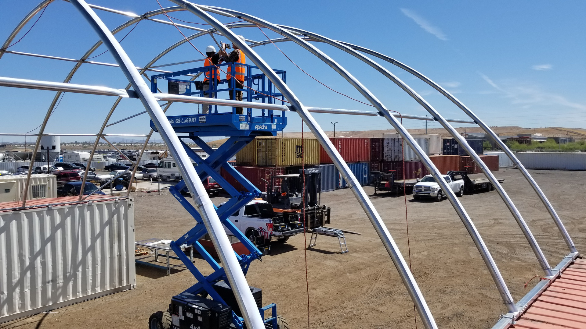 Container Canopies Install