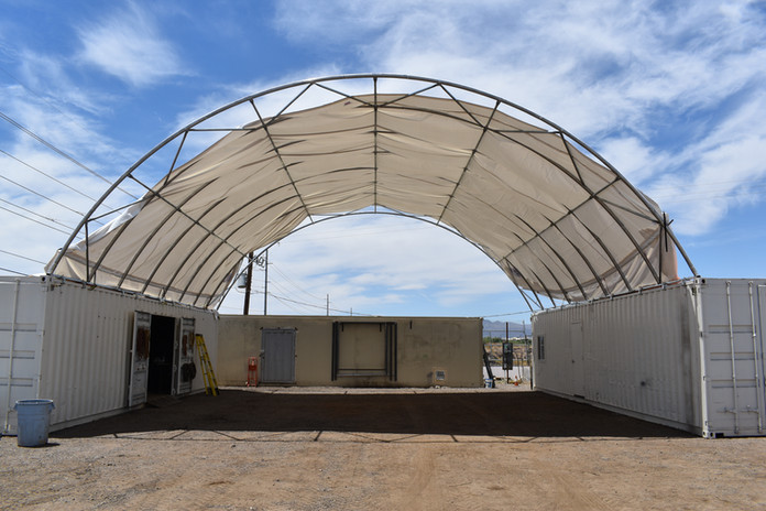 Shipping container canopy