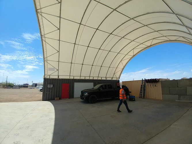 Storage container canopy
