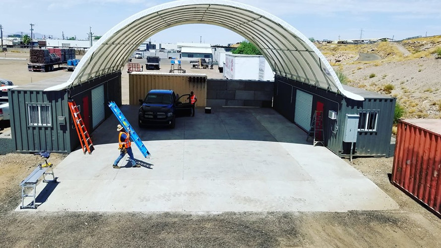 40x40 Shipping container canopy
