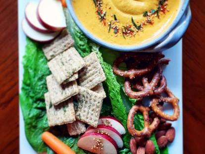 Honey Ginger Carrot Hummus