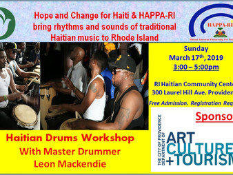 Haitian Drums Workshop with Master Drummer Leon Mackendie