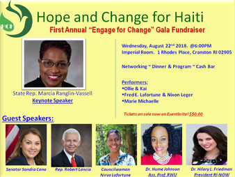 """Hope & Change for Haiti 1st Annual """"Engage for Change"""" Gala Fundraiser"""