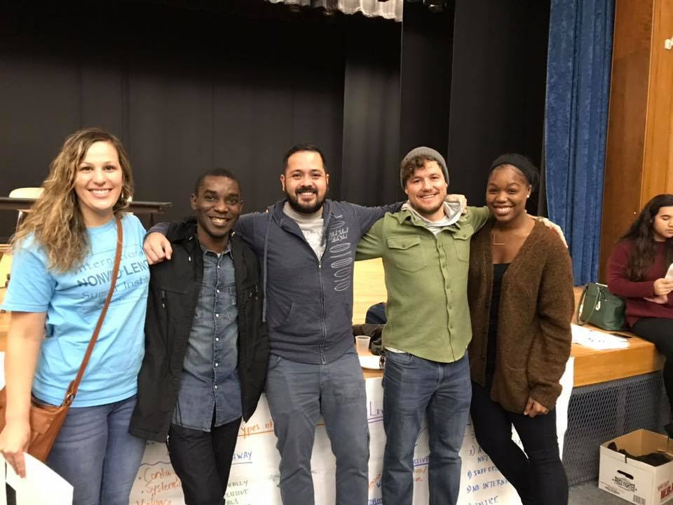 Acenel participated as a co-trainer at Kingian Nonviolence session organized by Aimee & Jason Ryan at North Providence High School in November 2018