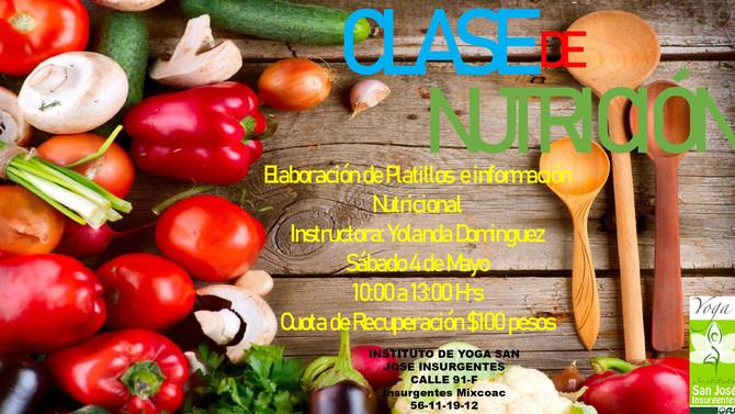 Clase de Nutrición