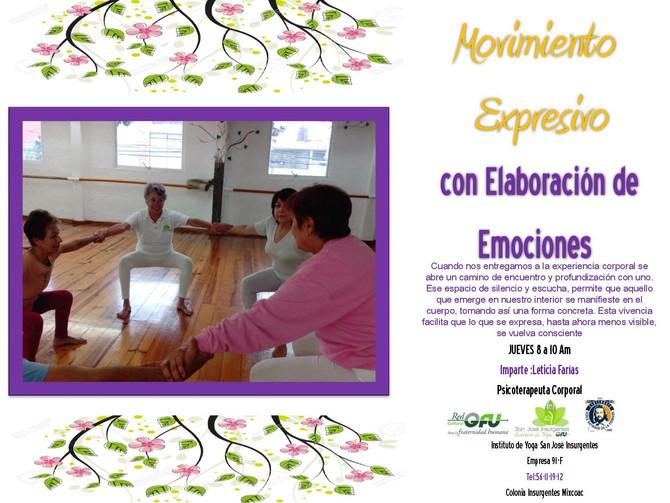 MOVIMIENTOS EXPRESIVOS CON ELABORACIÓN  DE EMOCIONES
