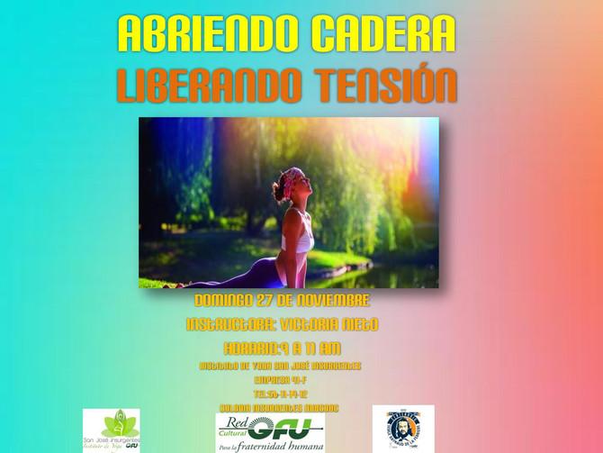 ABRIENDO CADERA ,LIBERANDO TENSIÓN