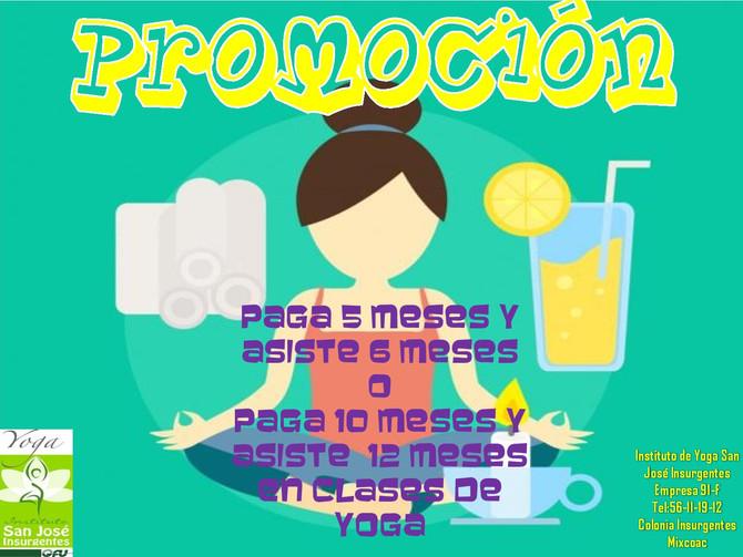 PROMOCIÓN EN CLASES DE YOGA!!!