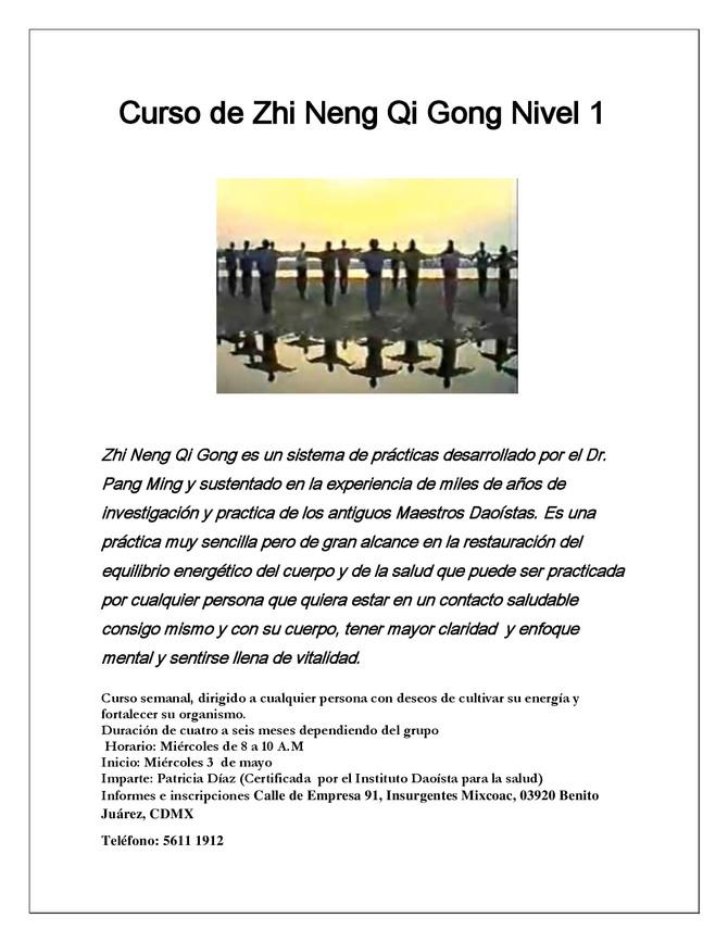 CURSO DE ZHI NENG QI GONG NIVEL 1