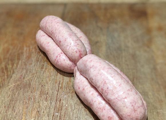 Homemade traditional pork sausages