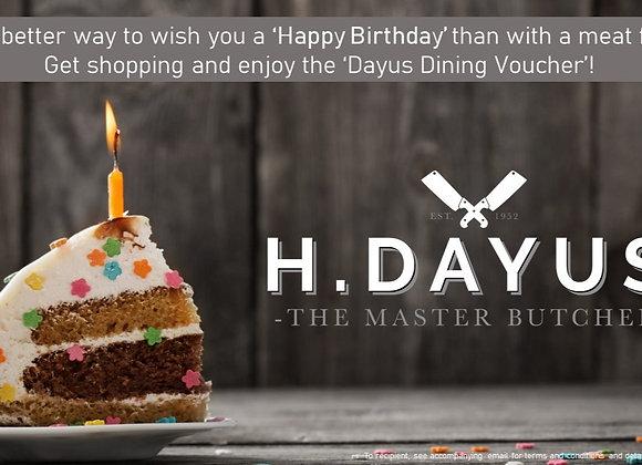 Happy Birthday Dayus Dining e-Voucher