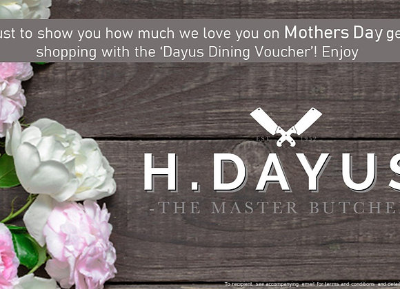 Happy Mothers Day Dayus Dining e-Voucher