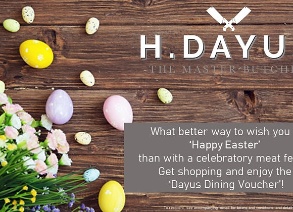 Happy Easter Dayus Dining e-Voucher