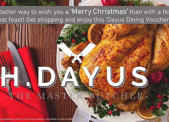 Merry Christmas Dayus Dining e-Voucher