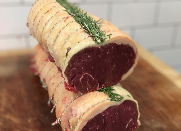 Dry aged grass fed rolled sirloin