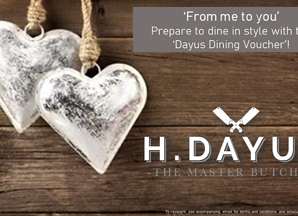 Love You Dayus Dining e-Voucher