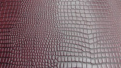 Burgundy Croc Print Sides