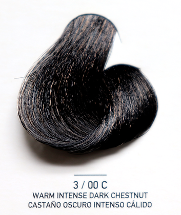 3 / 00C Warm Intese Dark Chestnut - Castaño Oscuro Intenso Calido