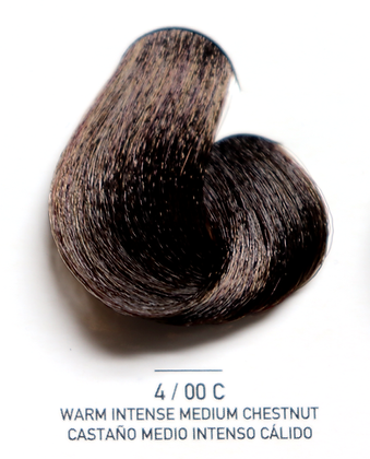 4 / 00C Warm Intense Medium Chestnut - Castaño Medio Intenso Calido