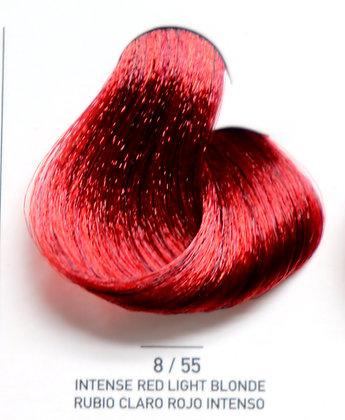 8 / 55 Intense Red Light Blonde - Rubio Claro Rojo Intenso