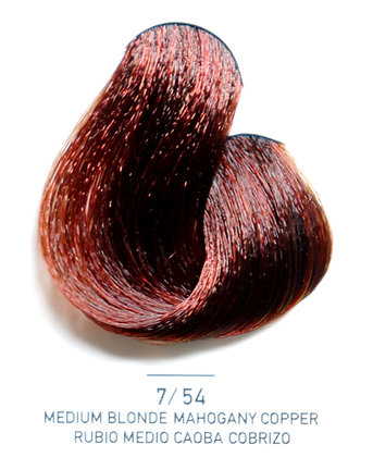 7 / 54 Medium Blonde Mahogany Copper - Rubio Medio Caoba Cobrizo