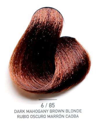 6 / 85 Dark Mahogany Brown Blonde - Rubio Oscuro Marron Caoba