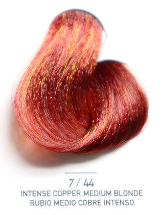 7 / 44 Intense Copper Medium Blonde - Rubio Medio Cobre Intenso