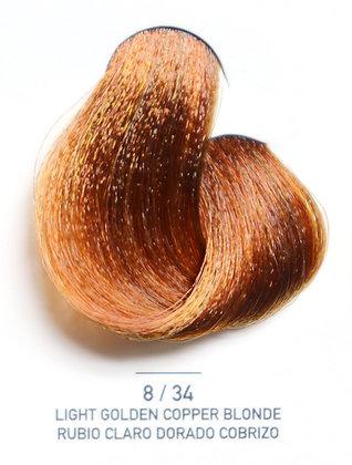 8 / 34 Light Golden Copper Blonde - Rubio Claro Dorado Cobrizo