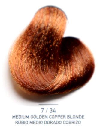 7 / 34 Medium Golden Copper Blonde - Rubio Medio Dorado Cobrizo