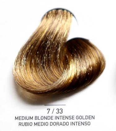7 / 33 Medium Blonde Intense Golden - Rubio Medio Dorado Intenso