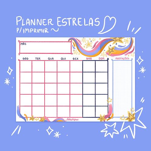 Conjunto Planner Estrelas