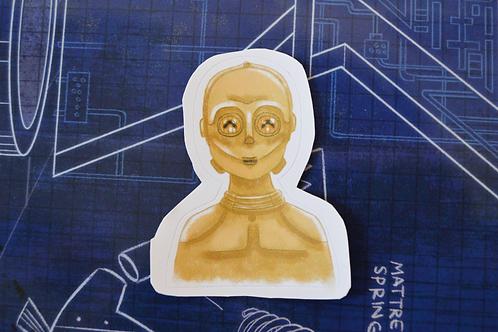 C3PO - Star Wars Droid Adesivo