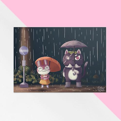 Studio Ghibli Redraw - Bad Cat and Dear Bunny