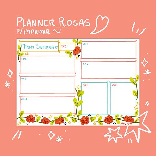 Conjunto Planner Rosas