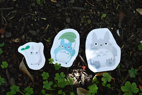 Coleção Totoro - Adesivos