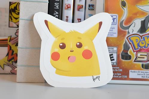 Pikachu Surpreso - Meme Adesivo
