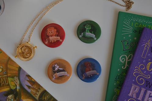 Coleção Casas de Hogwarts - Bottons
