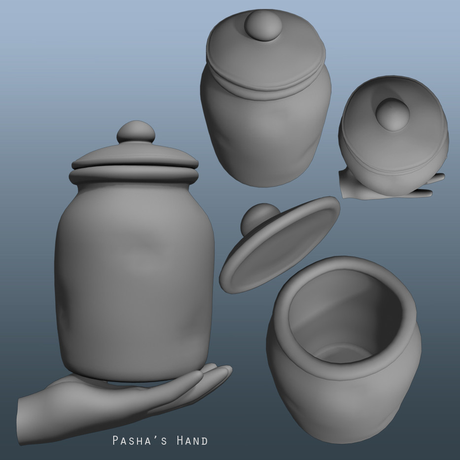 Modelled and textured (next image)