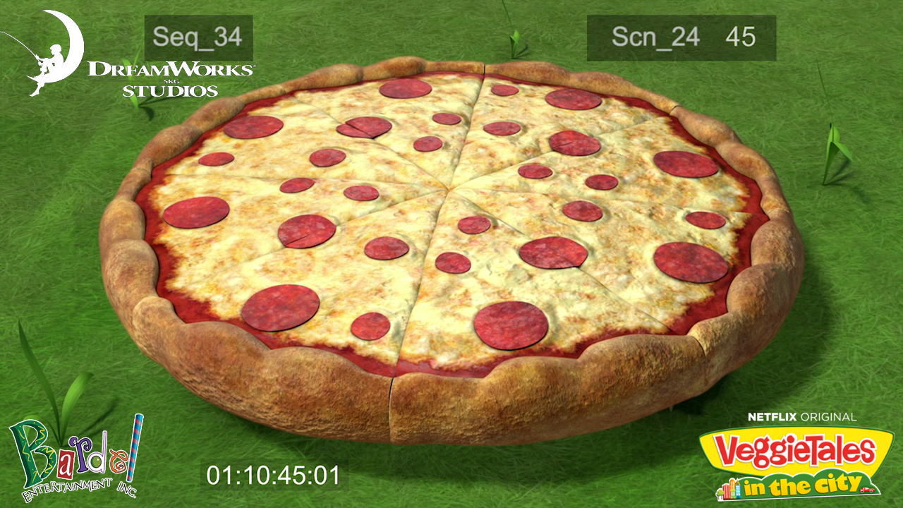 Textured the pizza.