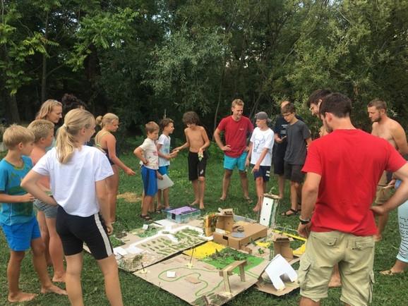 Zeleni kamp - 5.dan - Izdelava zelenega mesta