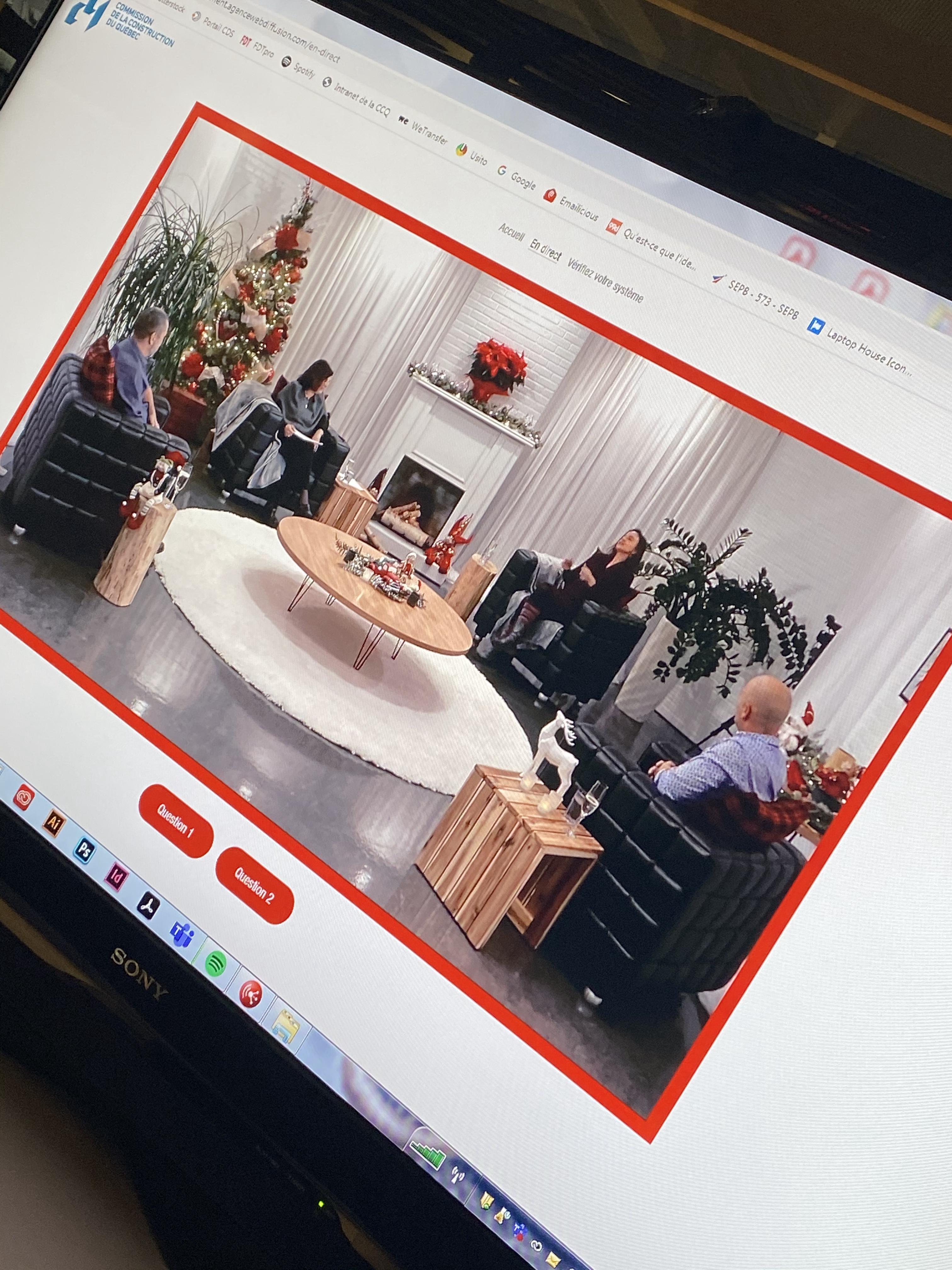 Soirée des fêtes virtuelle