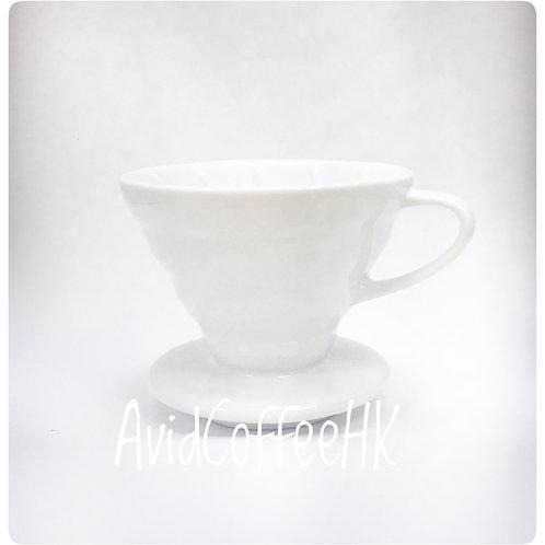 V02 V形陶瓷把手濾杯 錐形手沖濾杯 螺旋形 滴濾咖啡 (2-4人份)