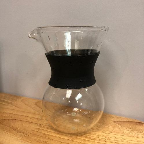 咖啡分享壺 橡膠隔熱手墊 手沖 下壺 200ml 掛耳咖啡合用