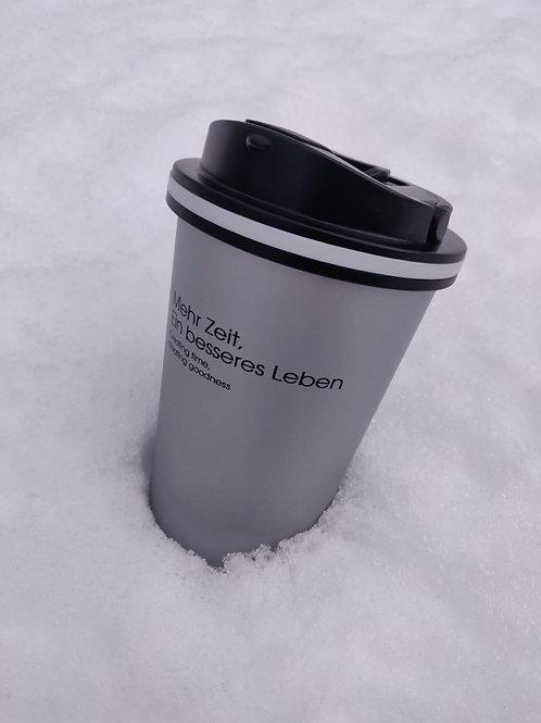 真空保溫咖啡杯 帶蓋不锈鋼雙層 手沖咖啡杯
