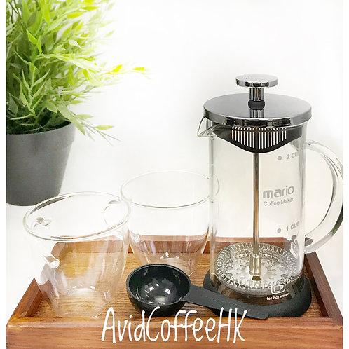 法壓壺玻璃 french press coffee marker 家用法式濾壓壺 沖茶器咖啡過濾杯 350-800ml $89-$189