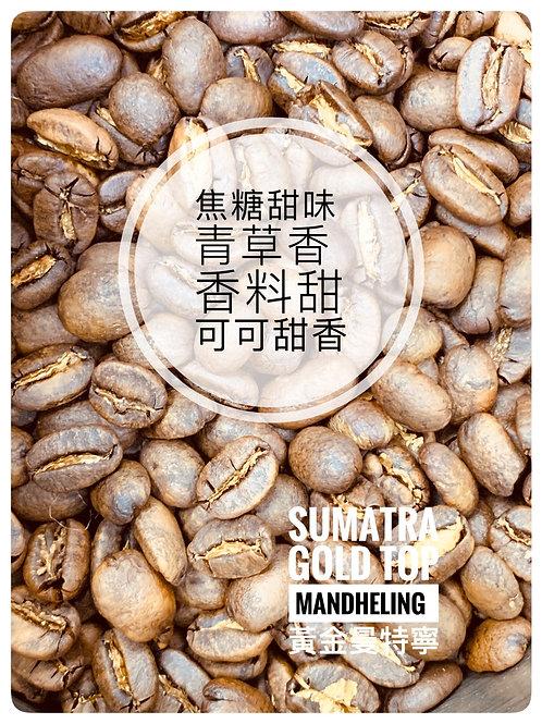 印尼蘇門達臘 黃金曼特寧 Sumatra Gold Top Mandheling 新鮮烘焙咖啡豆 落單即烘 $80/100g $150/200g