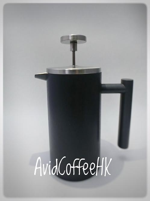 啞光不銹鋼鴨咀雙層法壓壺 法式濾壓 咖啡壺 雙層保溫壺 法式按壓式濾壓壺 1-2人份